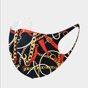 Accessories - Fashion Print Chain Masks